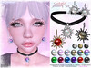 [ bubble ] Sunlight Jewellry Set (::: insanya ::: & [ bubble ]) Tags: secondlife bubble originalmesh accessories earrings necklace choker sun exclusive whimsical