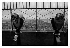 New York City (rudeskull) Tags: nyc street bigapple city america usa travel blackandwith sw nikon d800 fog nebel urlaub reise empirestatebuilding wolkenkratzer skyscraper hochhaus skyline