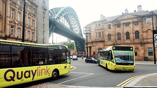 Go North East Optare Versa's 8336 and 5388 operating Quaylink services in Newcastle.