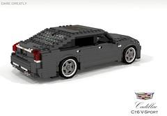 Cadillac CT6 V-Sport (2018) (lego911) Tags: cadillac ct6 vsport v8 turbo omega rwd luxury 2018 2010s auto car moc model miniland lego lego911 ldd render cad povray usa america american gm general motors
