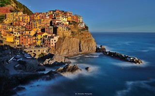 A long exposure sunset in Cinque Terre (explored)