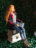 Good Night Sun! (FreeRangeBarbie) Tags: barbie fashion mera summer countryliving gardening diorama miniature onesixthscale redhead