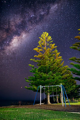 Playground (benjeev) Tags: night nightscape milky way astrophotography australia wa flinders bay playground swings empty alone dark clear sky color