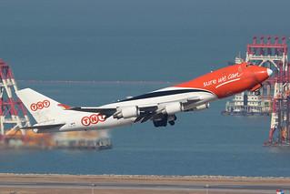 OO-THA 747-400F ASL Airlines, Hong Kong