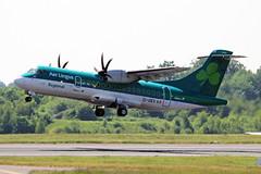 EI-GEV ATR72-512(600) Aer Lingus Regional (Stobasrt Air) MAN 29MAY18 (Ken Fielding) Tags: eigev atr42512600 aerlingusregional stobartair aircraft airplane jetprop turboprop regional commuter