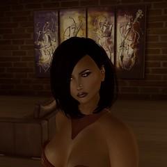 Suzette profile headshot_001 cut sepia (Mandy Galileo) Tags: secondlife sl suzette profile portrait sepia