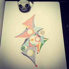 Paraglider? (Dat Asian) Tags: visualarts geometric graphic illusion abstract creative dots illustration pen ink stippling design sketch doodle drawing art visualart