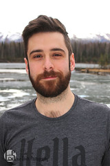 Luke (Levi Smith Photography) Tags: tshirt hella alaska mountains trees forest anchorage portrait man men hair cute beard hairy chest handsome boy guy good looking otter ice lake water pond sky beautiful landscape fashion