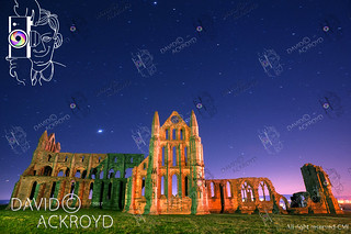 Work by DCA- starry night over whitby abbey.