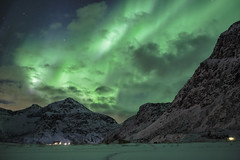 Nothern Lights (Jose Feito - www.atravesdelprisma.com) Tags: lofoten noruega viaje aurora boreal nothern lights verde circulo circumpolar polar artico islas montaña