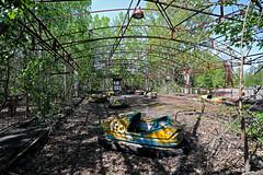 Bumper Cars, Pripyat Amusement Park (Saleha Ullah) Tags: chernobyl ukraine nuclear disaster ghost town abandoned pripyat