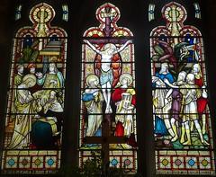 [63062] Swallow : East Window (Budby) Tags: swallow lincolnshire church westlindseychurchesfestival window stainedglass