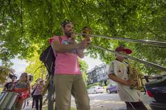 Greenhorn Folk @ EDAM Vancouver (ArturoMendez) Tags: music vancouver vancity vancitybuzz vancityhype vancouverbc band brass funk saxophone trombon drums kids sunny day festival instruments horn community
