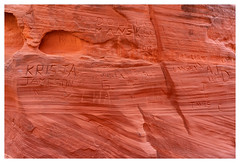 Illegal Markings in Cathedral Canyon (Paulemans) Tags: sonyfe424105goss 2018usavacation paulemans paulderoode cathedralcanyon page navajosandstone nikvivenza