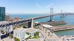 San Francisco Bay Bridge (A Sutanto) Tags: bridge skyline city san francisco sf ca california usa america bay area embarcadero drone shot view aerial