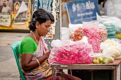 Flower Weman (Balaji Photography - 5 ,400,000+ views -) Tags: flower woman flowerwoman jasmin roses garland