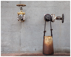 Behind the harbour 3 (AEChown) Tags: harbour oiltank oil taps lochinver stilllife minimalist dripping