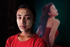 Bar Portrait - Bogalay, Myanmar (Maciej Dakowicz) Tags: fujifilmxseries fujifilmxt2 asia myanmar burma bogale bogalay portrait thanaka