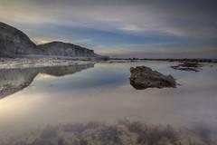 """ HERITAGE COASTLINE "" (Wiffsmiff23) Tags: heritagecoastlinesouthwales traeth traethmawr reflections reflection southwales cliffs sea seaweed calm beach"