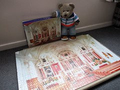Yew took a rubbish pikchur, Mum! (pefkosmad) Tags: jigsaw puzzle hobby leisure pastime secondhand used complete chadvalley stcoloman bavaria baroque church germany tedricstudmuffin teddy ted bear animal toy cute cuddly plush fluffy soft stuffed
