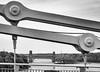 from bridge to bridge (dgmann11) Tags: menai straight suspension steel monocrome water