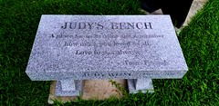 Judy's Bench (mercycube) Tags: judidench pun bench granite grave epitaph judywong