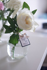 Wedding flowers (nearbyescape) Tags: flowers bouquet white pink green botanic glass pastel light styling tabletop wedding happiness
