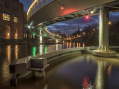 Time For Light Reflections (Wizard CG) Tags: bristol harbour finzels reach bridge longexposure olympus epl7 hdr uk england water world trekker ngc blue buildings castle park footbridge river avon