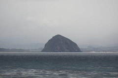 Morro Rock (tamasmatusik) Tags: morrobay morrorock volcanic plug rock nature rain landscape california symmetry 210mm sony sonynex nex6 milc march ocean pacificocean coast roadtrip mountain