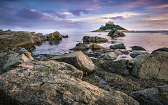 The End of a Cornish Day_ (Andrew J Hulson) Tags: cornwall southwest rocks magenta sunset visitcornwall kernow picoftheday st micheals mount 24mm englad uk britain england visitbritain