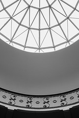 Curves & Lines (Karen_Chappell) Tags: travel ottawa ontario architecture dome window skylight circle lines shapes curves geometry geometric abstract bw blackandwhite building university city urban