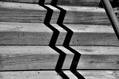 Broken shadow (jaume zamorano) Tags: 7dwf blackandwhite blancoynegro blackwhite blackandwhitephotography blackandwhitephoto bw d5500 lleida lines monochrome monocromo minimalism nikon noiretblanc nikonistas street streetphotography streetphoto streetphotoblackandwhite streetphotograph urban urbana stairs