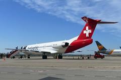 Aeropuerto Jerez de la Frontera Andalusia Spain (Helvetic Airways Fokker F100) (Martinus VI) Tags: aircraft airplane airport flughafen aéroport aeroporto y180601 xry brn jerez de la frontera spain