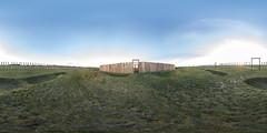 Ringheiligtum / 3 (360 x 180) (diwan) Tags: germany deutschland saxonyanhalt sachsenanhalt salzlandkreis pömmelte pömmeltezackmünde ortsteilbarby äusererpfostenring eingang rubinienstämme kultsstätte kleinstonehenge rekonstruktion grün gras himmel sky outdoor roundabout equirectangular google nikcollection plugins viveza2 spivpano 360° circularpatternrectified panoramix panorama stitch ptgui fisheye canonef15mmf28fisheye canoneos5dmarkiv canon eos 2017 geotagged geo:lon=11799075 geo:lat=51997310