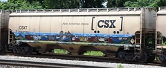 CSX Covered Hopper 262278 (Tjtrainz N' Freight) Tags: csx csxt covered hopper rolling stock national steel car nsc train freight tom jerry railroad boxcar graffiti