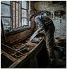 The brass foundry (Hugh Stanton) Tags: workshop foundry bench tools window