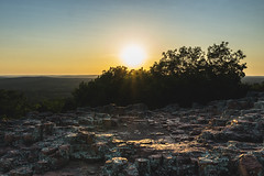 Hughes Mountain sunset (tylerjacobs) Tags: sony a6000 sigma 16mm f14 wide angle landscape nature photography missouri st francois mountains state park woods forest mountain geology rock rocks summer hiking camping