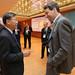 Chong Meng Tan discusses with Olaf Merk