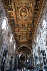 The beautiful ceiling of San Giovanni in Laterano (Lars Ørstavik) Tags: sangiovannoinlaterano archbasilica ceiling building architecture basilica church cathedral