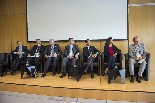 The panel in session