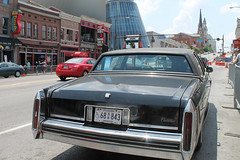 Southern Style (Flint Foto Factory) Tags: nashville tennessee urban city spring may 2018 broadway cadillac sedan deville classic vintage generalmotors gm luxury car auto automobile rear threequarter view parallel street parked parking bridgestone arena