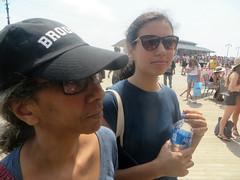 Janine & Eden on Boardwalk (edenpictures) Tags: coneyisland brooklyn newyorkcity nyc boardwalk janine eden