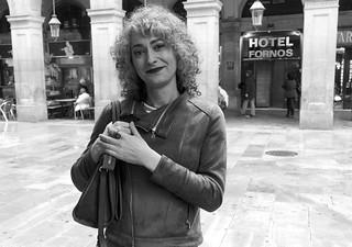 A woman, or perhaps a man? Plaça Reial, Barcelona.