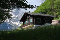 un petit coin bien tranquille (bulbocode909) Tags: valais suisse mex chalets montagnes nature printemps forêts arbres neige paysages prairies vert branches