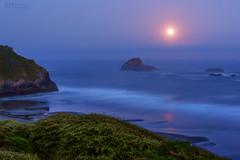 Trinidad State Beach (Christina Angquico) Tags: trinidadstatebeachcalifornia coast trinidad night nikon d600 tamron70200mm christinaangquico northern california northerncalifornia fullmoon moon