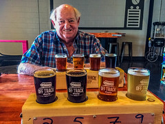 2018 - photo 152 of 365 - Alan with beer at Off Track Brewing (old_hippy1948) Tags: beer tasters friendship happy