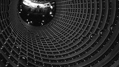 Spiral (dzunglv) Tags: circle architecture art architect hotel building floors stair china beijing bnw blackandwhite blackwhite 169 wide nopeople spiral view viewpoint top above