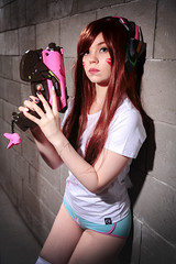 Я тут постою (Chizury) Tags: ifttt 500px woman cosplay overwatch dva standing closeup portrait posing underwear redhead redhair female young adult caucasian ethnicity gun 2024 years beautiful beauty girl attractive headphones wall indoor
