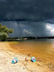 Storm (denismartin) Tags: france vosges lorraine bouzey sanchey chaumousey epinal lake water weather beach storm hail cloud sky rain spring grandest denismartin