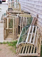 Lobster traps (Will S.) Tags: mypics havreaubert idlm quebec magdalenislands canada acadian îlesdelamadeleine québec lobstertraps lobsters traps amherstisland canadaeast